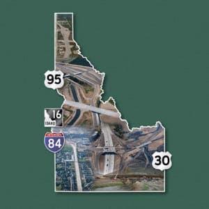 Idaho transportation map